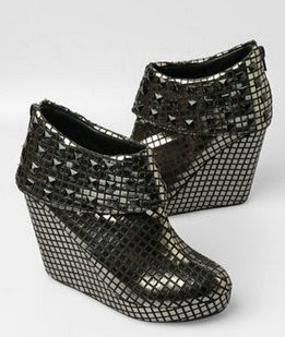Heavy Metal Studded Platform Wedges