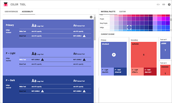 Free Online Material Design Color Tool
