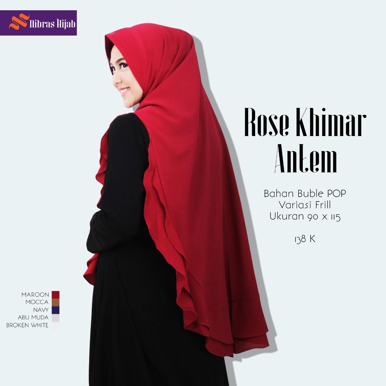 Koleksi Jilbab Nibras Terbaru Rose Khimar Antem