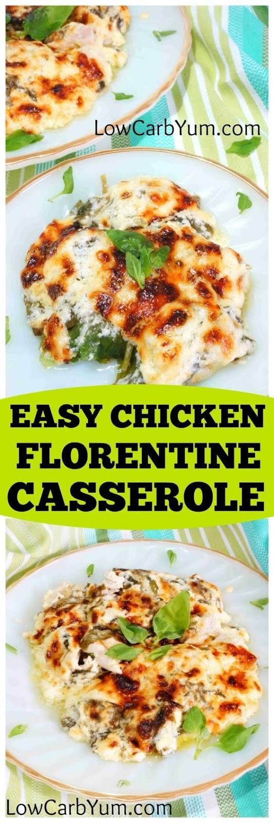 Easy Chicken Florentine Casserole