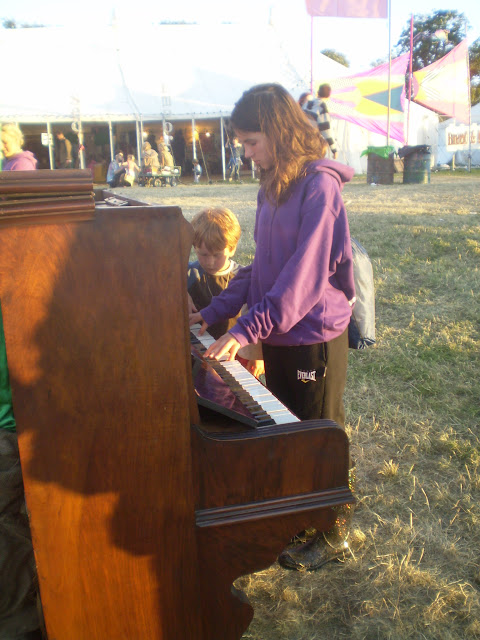 open air piano at camp bestival