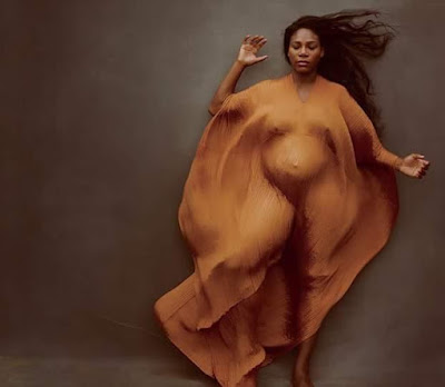 Serena Williams bares her growing Baby bump in her first ever pregnancy shoot on the cover of Vanity Fair