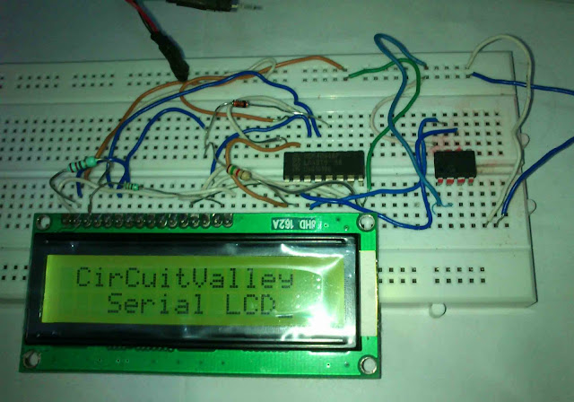 16x2 Serial LCD  (Two Wire) with PIC12F675 13