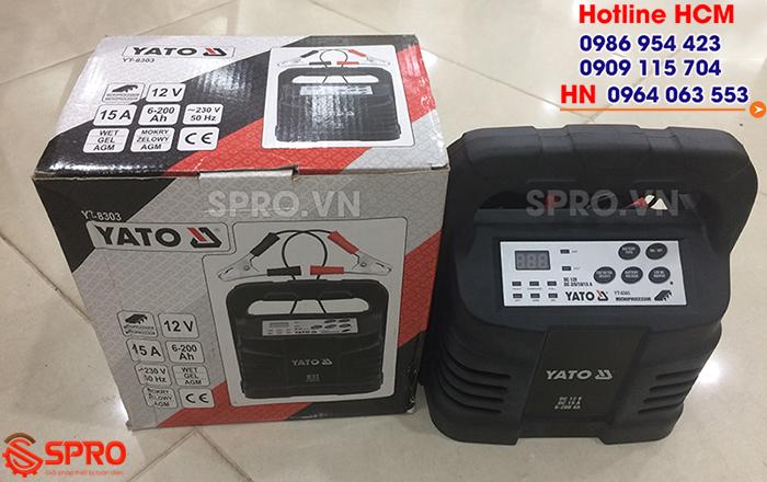 Giá máy sạc điện bình ắc quy xe máy YATO YT-8303 bao nhiêu