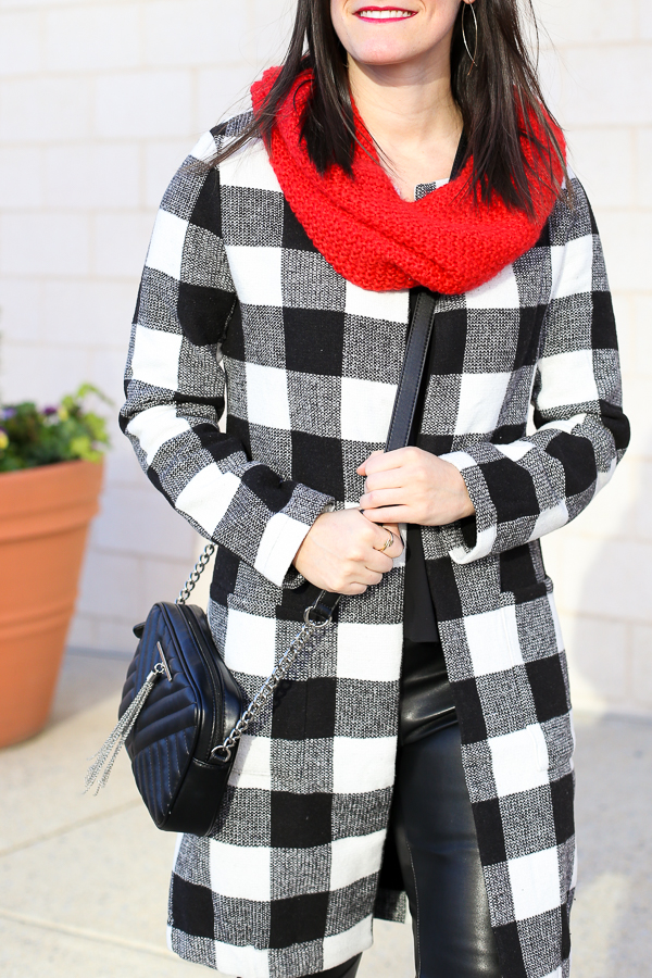 Naturally Me, Holiday Outfit Idea, SheIn Plaid Coat, How to Wear A Plaid Coat for the Holidays, Dainty Jewelry, Perfect Plaid Coats, Plaid Coat