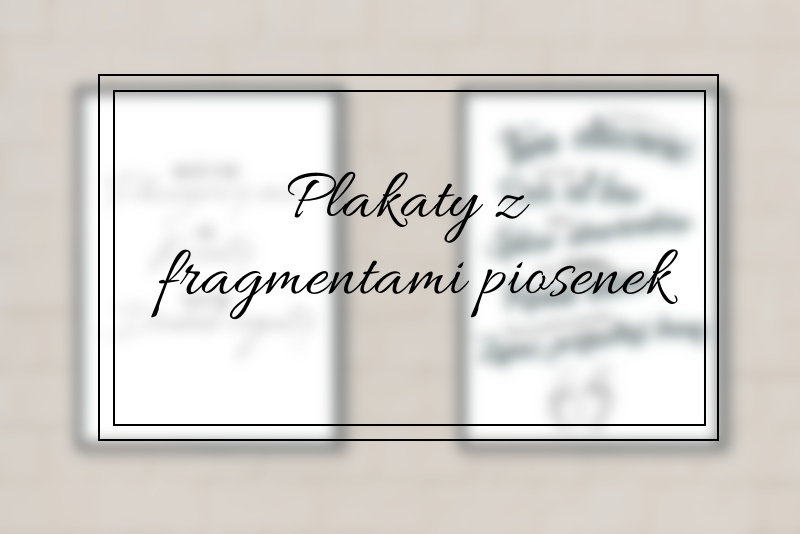 Plakaty Z Fragmentami Piosenek Book Written Rose