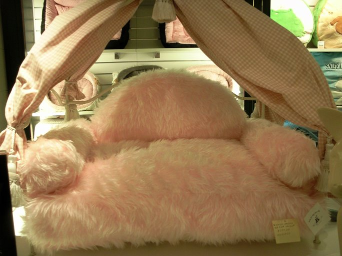 Fluffy Pink Cat Bed in Harrods Petshop