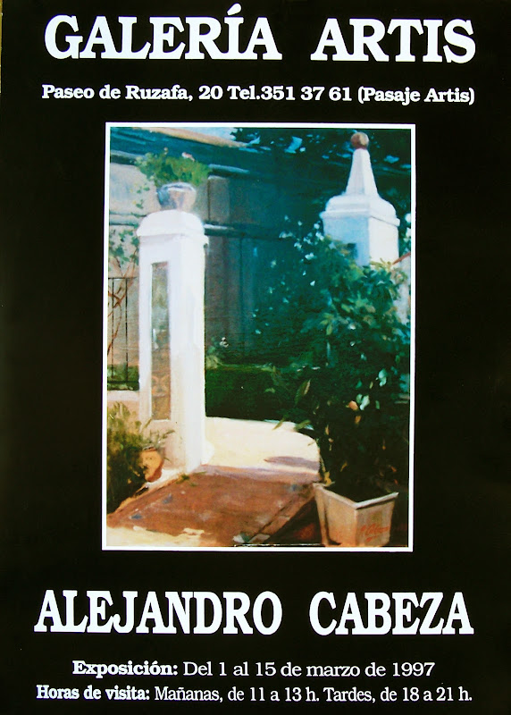 Alejandro Cabeza, Casa Museo Benlliure, Paisajes de Alejandro Cabeza, Libros de Alejandro Cabeza, Julián Bosch Abarca, Mª Carmen Abarca