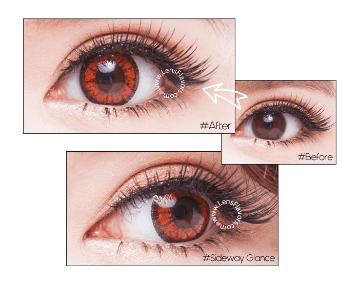 venus eye bright red before after