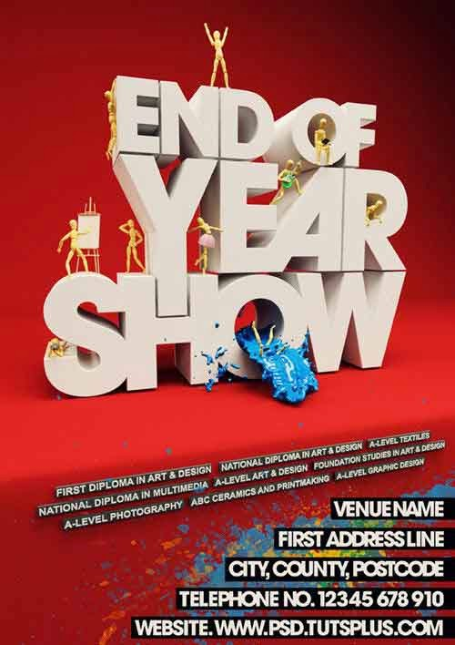 Create an Event Poster with C4D and Photoshop