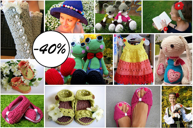 40% Discount on Crochet Patterns by Pingo - The Pink Penguin