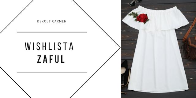 Sukienka z dekoltem Carmen... przegląd hiszpanek z Zaful
