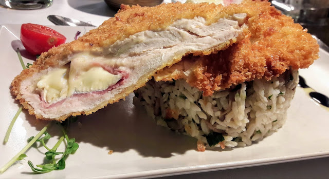 Excellent turkey with ham, cheese and Rice in Restaurant ruben in Budapest Hungary