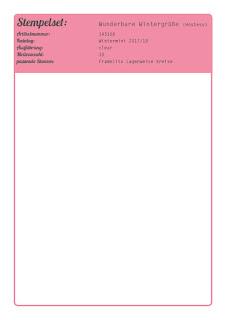 Stampin' Up! rosa Mädchen Kulmbach: Anleitungen, Farbmusterblätter, Farbwerttabelle, Farbauflistung, uvm. zum Download