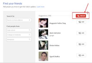 Cara Menambah teman di Google Plus