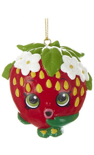 Shopkins Blow Mold Christmas Ornament Strawberry Kiss