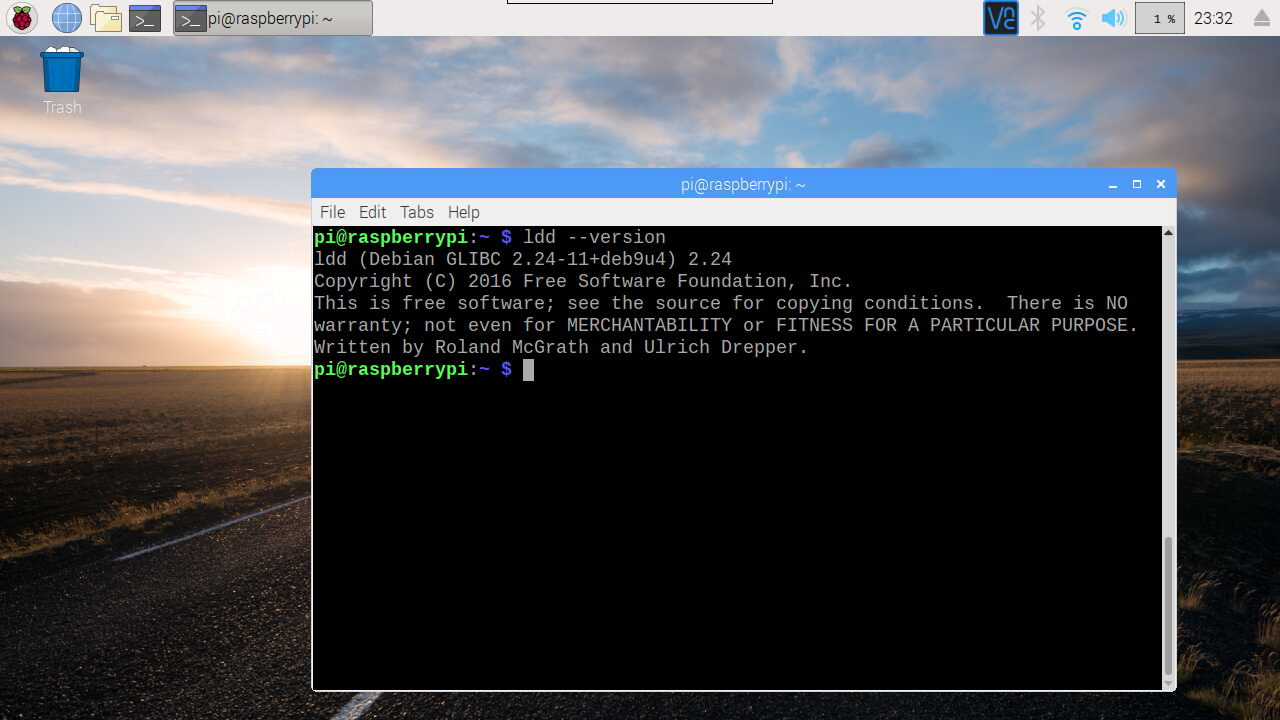 Hello Raspberry Pi: Check glibc version