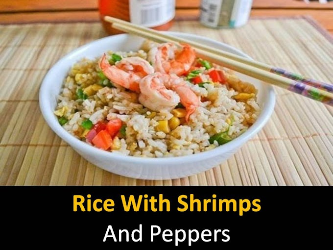 Rice with shrimps and peppers
