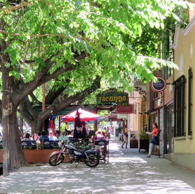 4-Days in Mendoza: Tree-lined streets with sidewalk cafes