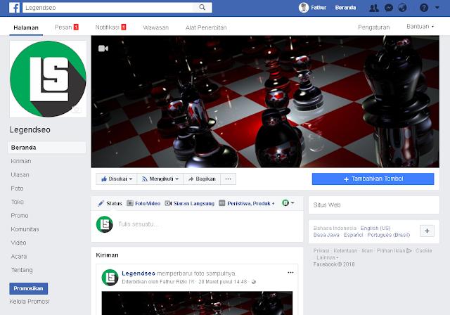 Contoh Fanspage Facebook