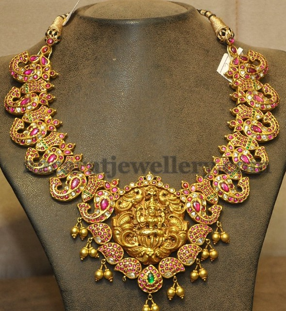 Beautiful South Indian Double Long Necklace Set: 2013 Latest Traditional Necklace