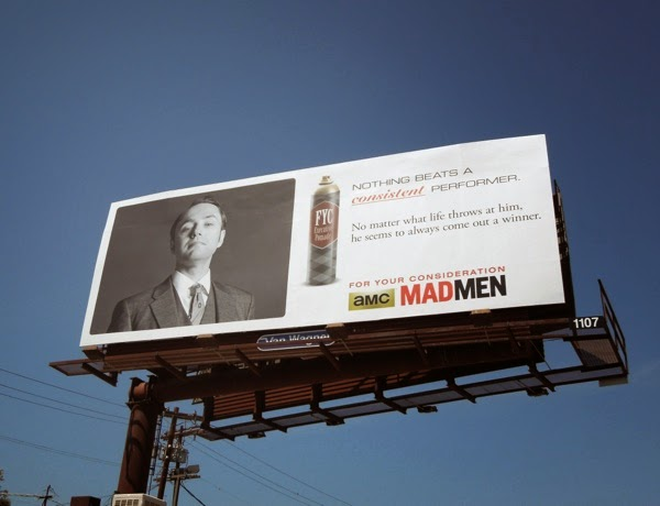 Vintage Mad Men Pete Campbell 2014 Emmy billboard