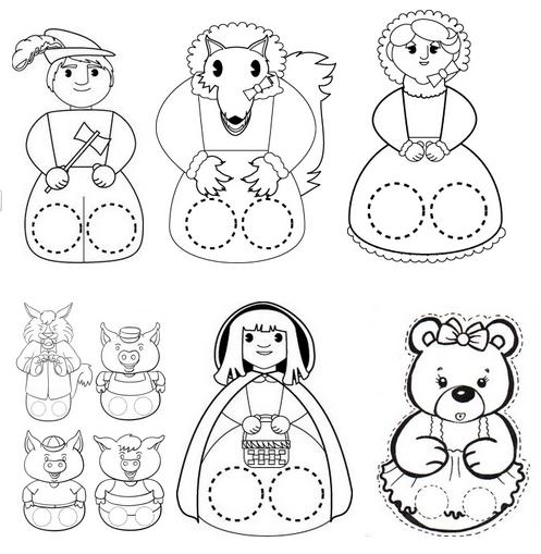 Marionetas De Dedo Para Imprimir Y Colorear