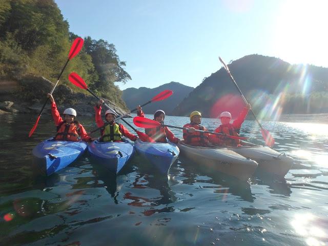 四国でカヌー体験