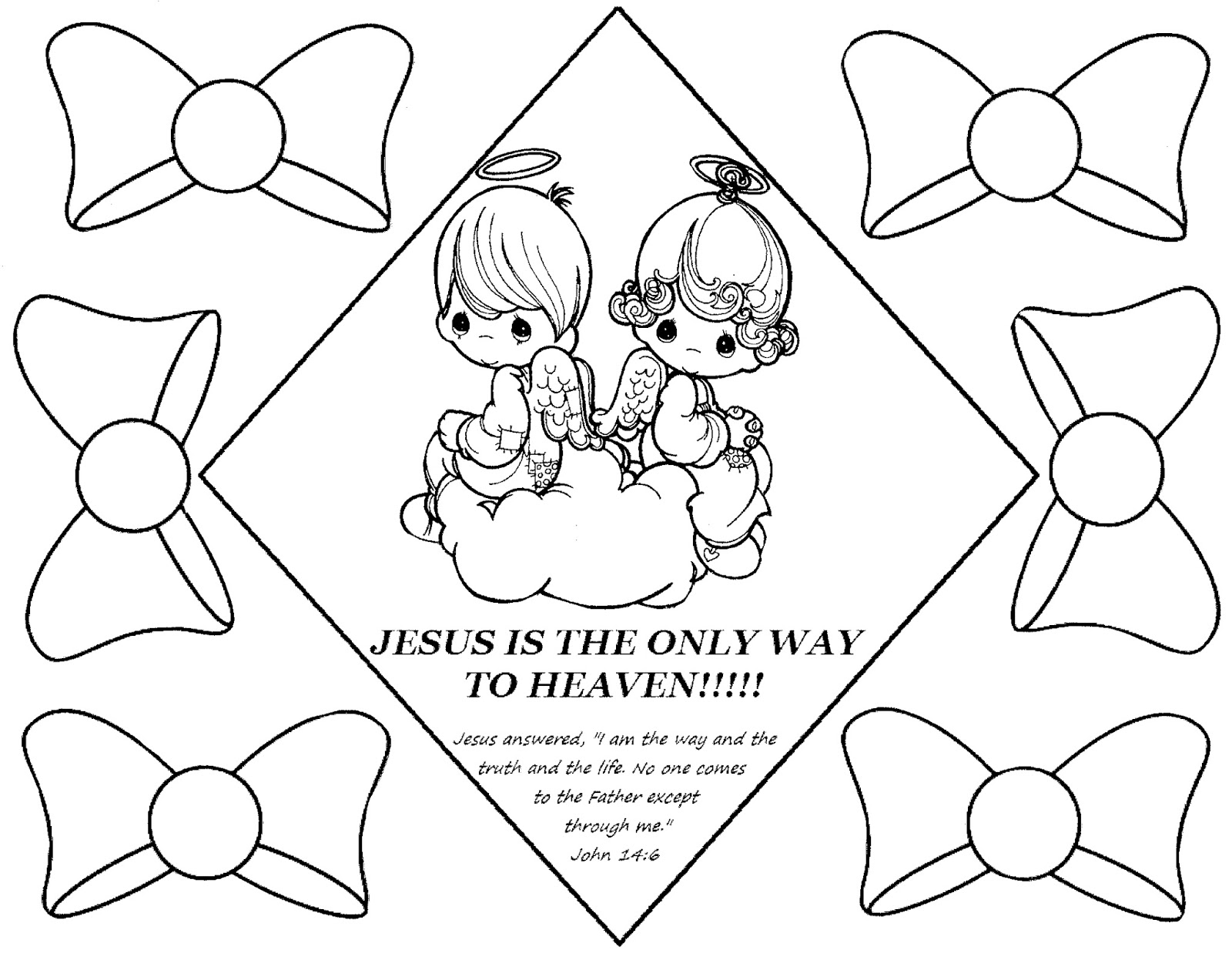 Printable Precious Moments Coloring Pages - Eskayalitim