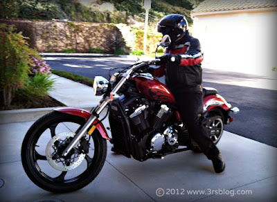 yamaha star stryker cycle and rider