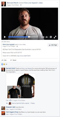 Felon Bernard Kerik Honors 9/11 September 11th dead by hawking t-shirts, pins and chotskies