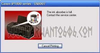 Cara Reset Printer Canon IP1880 dan IP1980