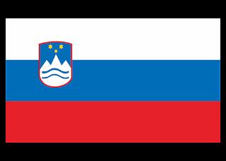 Slovenia Flag Logo Vector