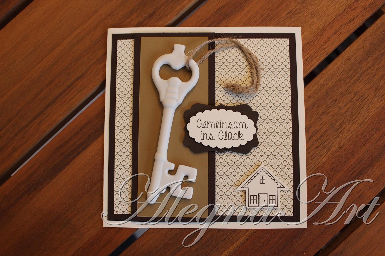 alegnaart stampin up karte zum einzug. Black Bedroom Furniture Sets. Home Design Ideas
