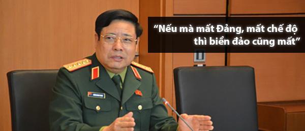 """Phùng Quang Thanh: """"Mất đảng, mất chế độ thì biển đảo cũng mất!"""""""