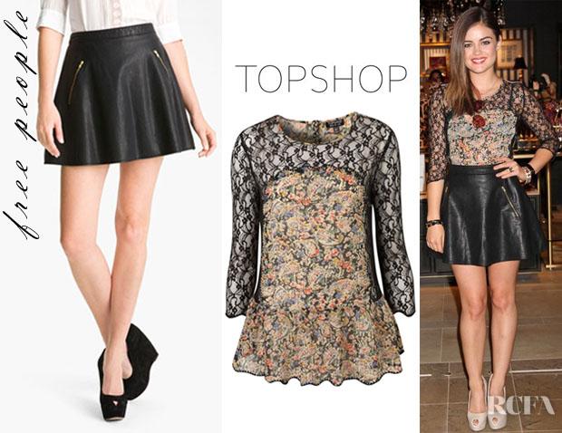 bab2335aa8 ... Lace Peplum Skirt: Splash Of Brunette: Loving Leather
