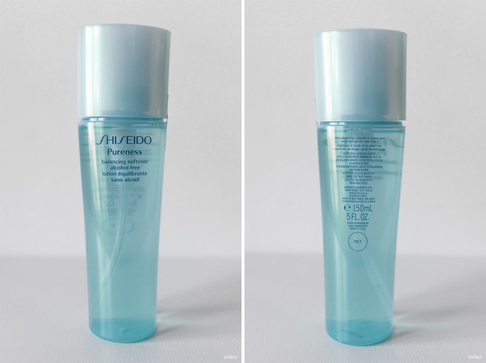 lavlilacs SHISEIDO Pureness Balancing Softener Alcohol-Free bottle