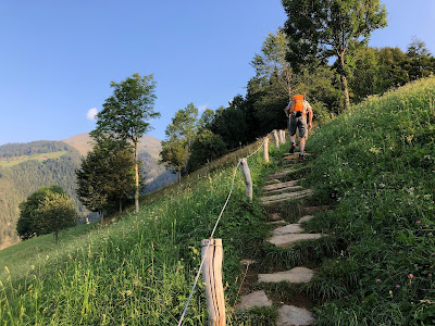 The start of the trail, just above Pianezza.