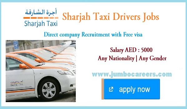 Latest Sharjah Taxi Drivers Jobs with Free Visa | Direct