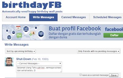 Cara mengucapkan selamat ulang tahun kepada teman Facebook secara otomatis