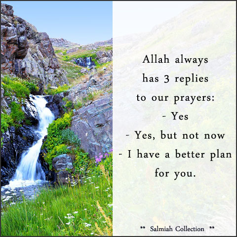 Allah always has 3 replies