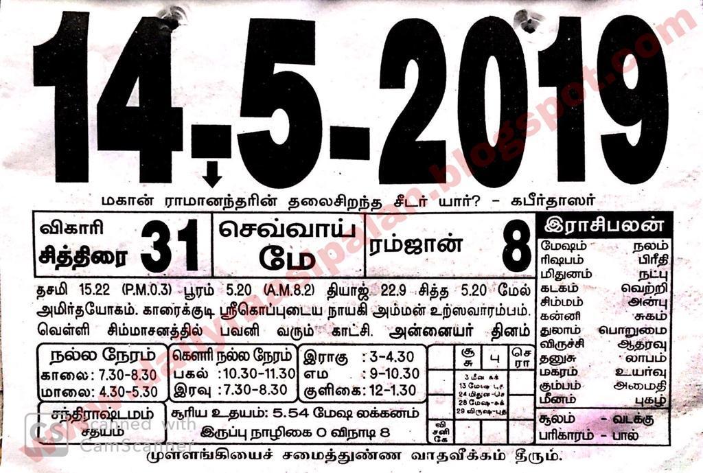 Raasi Palan Today for 14th May 2019 - Tuesday - Daily Raasi Palan