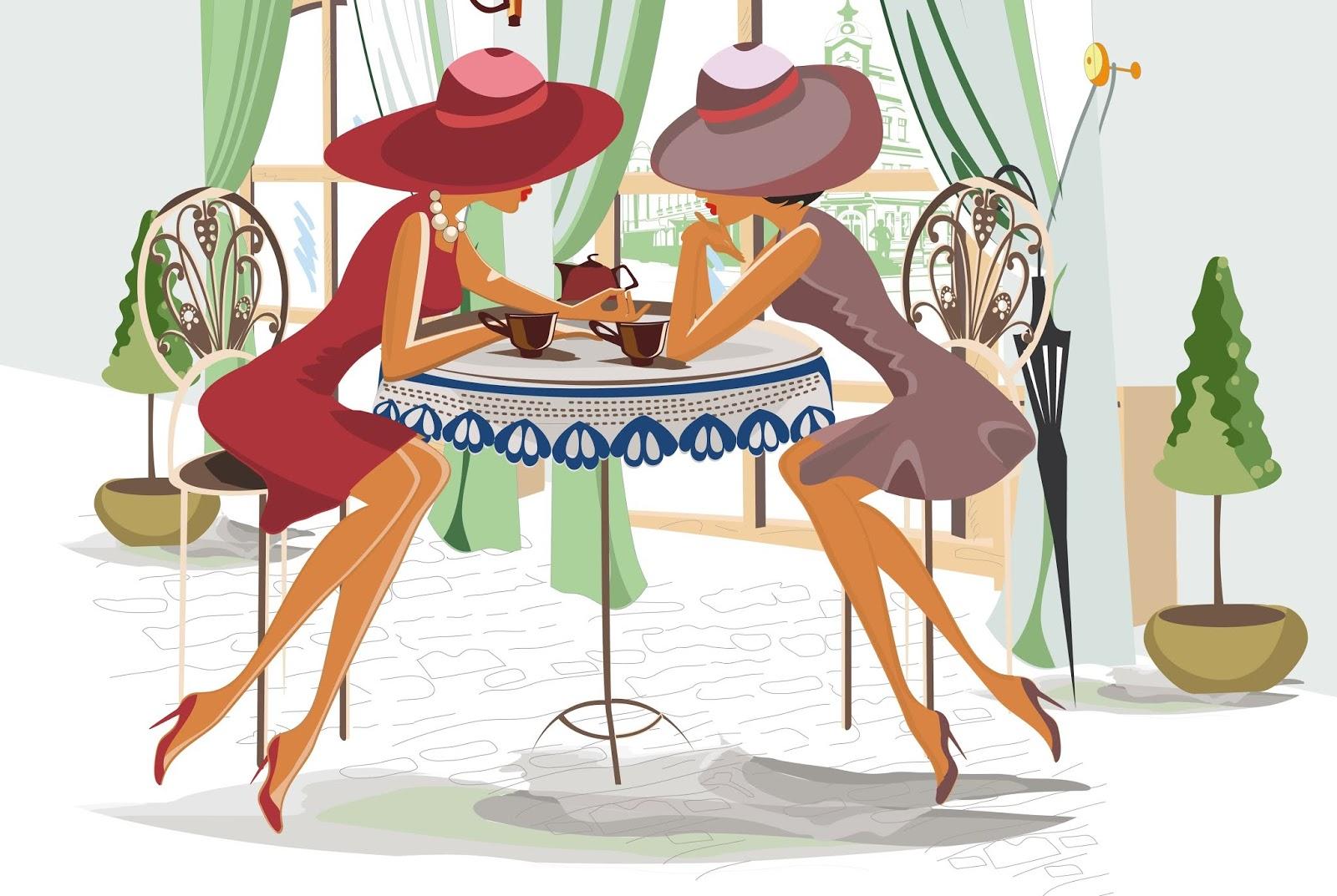 Открытка девушки за столом, днем рождения простоквашино