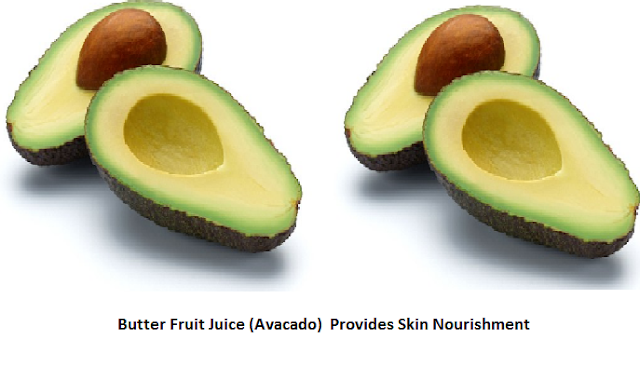 Butter Fruit Juice (Avocado)  Provides Skin Nourishment: