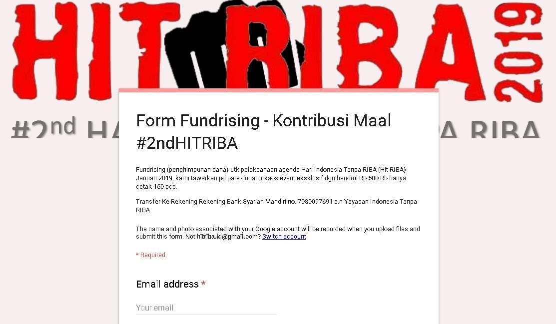 Klik Untuk Mengisi Form Kontribusi Maal #2ndHITRIBA