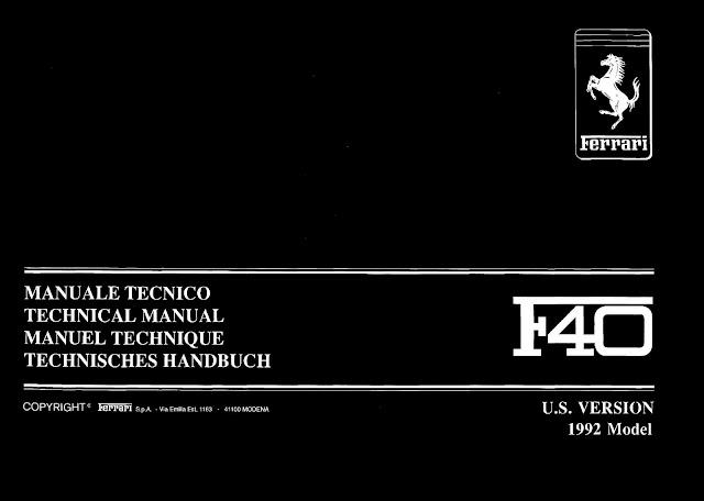 Owners manual ferrari f40 1992 us version ebook format black owners manual ferrari f40 1992 us version ebook format black version ferrari f40 ferrarif40 fandeluxe Gallery