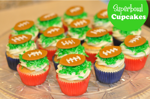 Super-Easy Super-Bowl Cupcakes Recipe - via BirdsParty.com