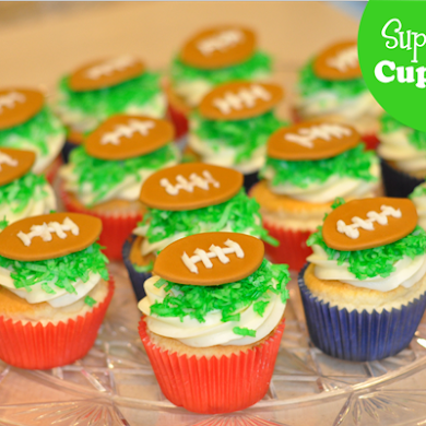 Super-Easy Super-Bowl Cupcakes Recipe