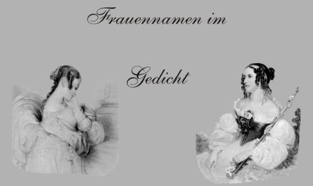 Gedichte Und Zitate Fur Alle Gedichte Frauennamen O J Bierbaum