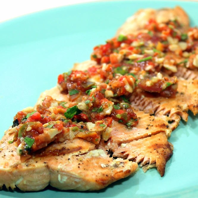 52 Ways To Cook: White Wine Marinated Grilled Salmon